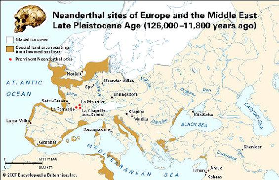 neaderthal map